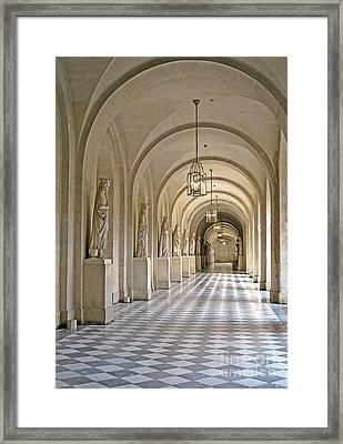 Palace Corridor Framed Print by Ann Horn