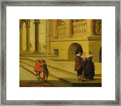 Palace Courtyard Framed Print by Dirck van Delen