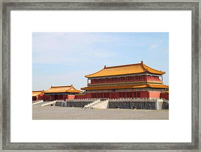 Palace Forbidden City In Beijing Framed Print by Thanapol Kuptanisakorn