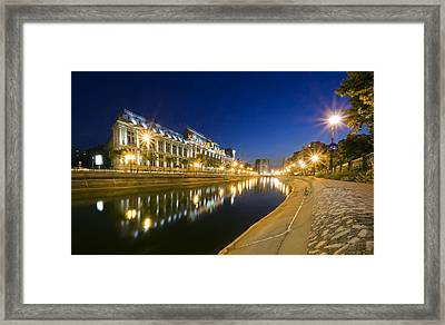 Palace In Bucharest Framed Print by Ioan Panaite