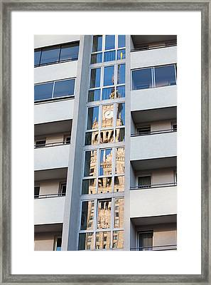 Palace Of Culture And Science Abstract Reflection Framed Print by Artur Bogacki