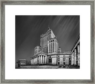 Palace Of Culture And Science  Framed Print by Tomas Romasevski