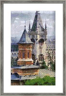 Palace Of Culture Framed Print by Jeff Kolker