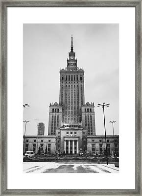 Palace Of Culture Framed Print by Pati Photography