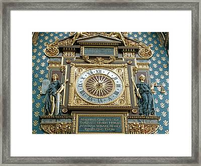 Palace Of Justice Clock Framed Print by Alex Bartel