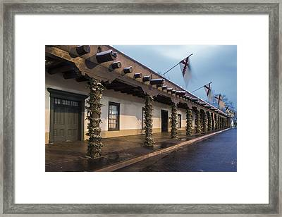 Palace Of The Governors Santa Fe Framed Print by Dave Dilli