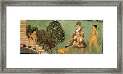 Palace Scene. Three Youngs Framed Print by Everett