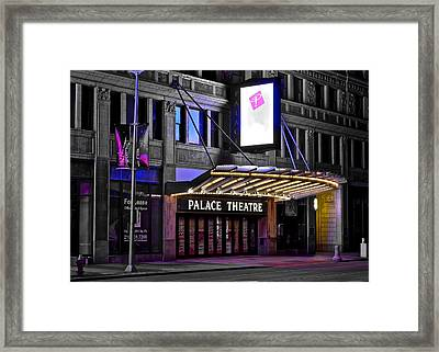Palace Theater Cleveland Ohio Framed Print by Frozen in Time Fine Art Photography