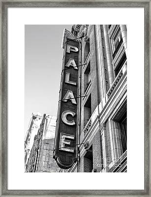 Palace Theater - Los Angeles - Black And White Framed Print by Gregory Dyer