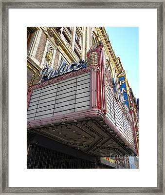 Palace Theater Marquee Framed Print by Gregory Dyer