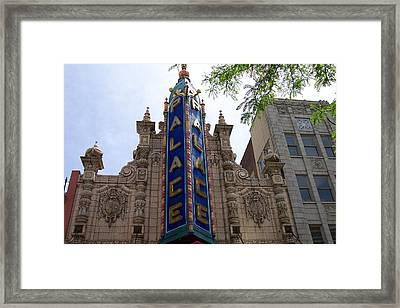 Palace Theater Framed Print by Pamela Schreckengost