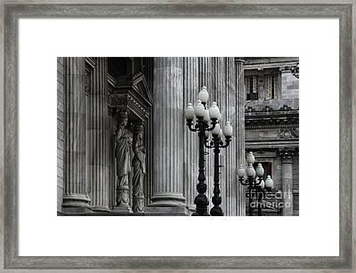 Palacio Del Congreso Argentina Framed Print by Bob Christopher