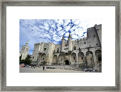 Palais Des Papes. Avignon. France Framed Print by Bernard Jaubert