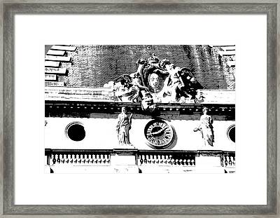 Palais Du Justice Detail Framed Print by Jacqueline M Lewis