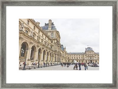 Palais Du Louvre Framed Print