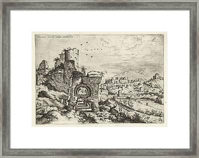Palatine At The Baths Of Caracalla, Print Maker Hieronymus Framed Print by Artokoloro