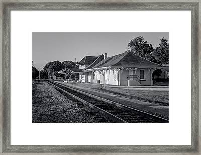 Palatka Train Station Framed Print by Lynn Palmer