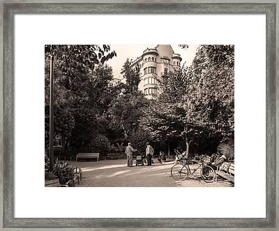 Palau Robert Garden, Barcelona Framed Print