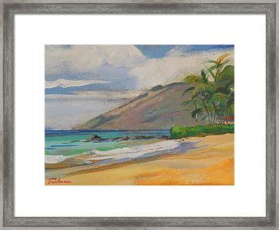 Palauea Beach Framed Print by Ron Wilson