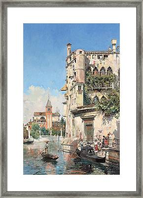 Palazzo Contarini Framed Print by Jose Gallegos Arnosa