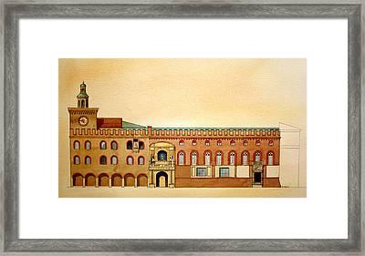 Palazzo D'accursio Bologna Italy Framed Print