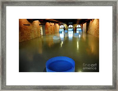 Palazzo Grassi Exhibit Framed Print by Jacqueline M Lewis