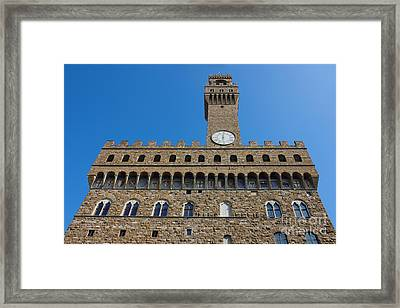 Palazzo Vecchio In Florence Framed Print