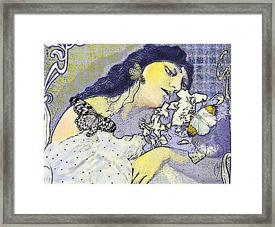 Pale April Framed Print