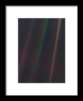 Pale Blue Dot Framed Prints