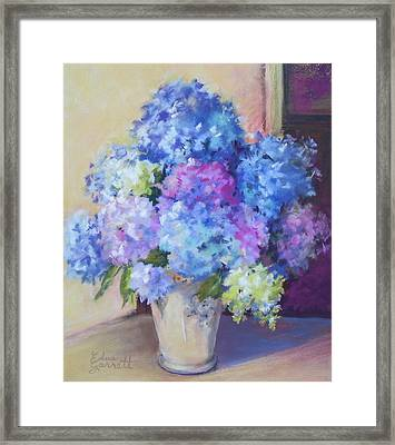 Pale Blue Hydrangeas  Framed Print