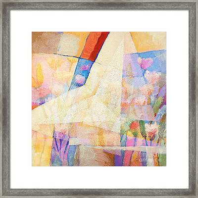 Pale Colorplay Framed Print