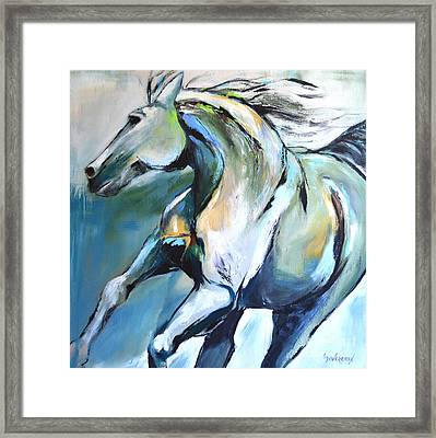 Pale Horse Framed Print by Cher Devereaux