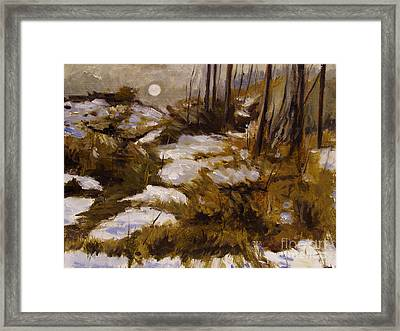 Pale Moon Framed Print by Charlie Spear