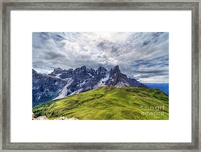Framed Print featuring the photograph Pale San Martino - Hdr by Antonio Scarpi