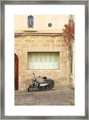Framed Print featuring the photograph Pale Shutters by Colleen Williams