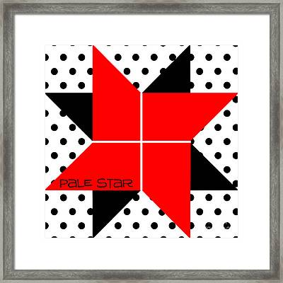 Pale Star Framed Print