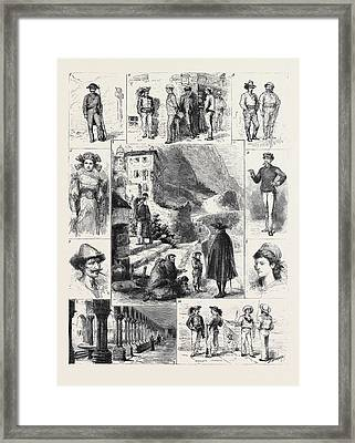 Palermo 1. A Gendarme 2. Excellenza, This Village Framed Print