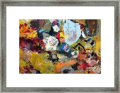 Palette Abstract Framed Print by Michelle Calkins