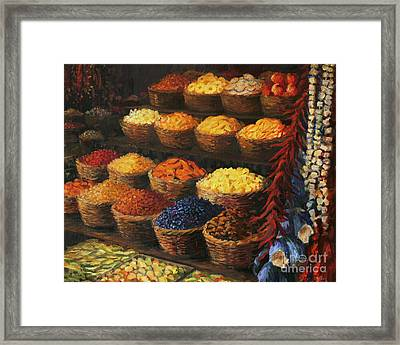 Palette Of The Orient Framed Print by Kiril Stanchev