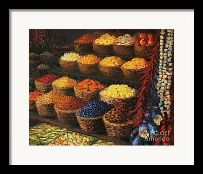 Ingredient Paintings Framed Prints