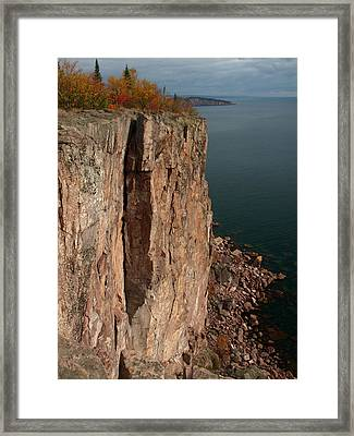 Framed Print featuring the photograph Palisade Depths by James Peterson