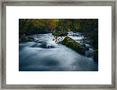 Palisades Creek Idaho In Fall Framed Print