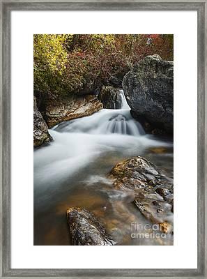 Palisades Creek In Idaho Framed Print by Vishwanath Bhat