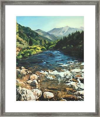 Palisades Creek  Framed Print by Lori Brackett