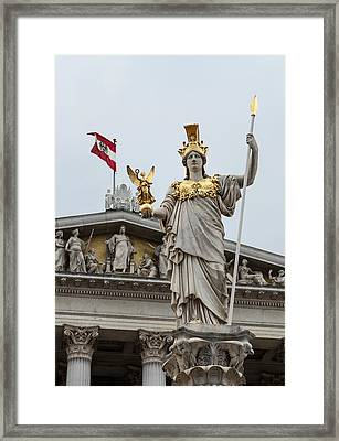 Pallas Athena. Austrian Parliament Building. Framed Print by Fernando Barozza
