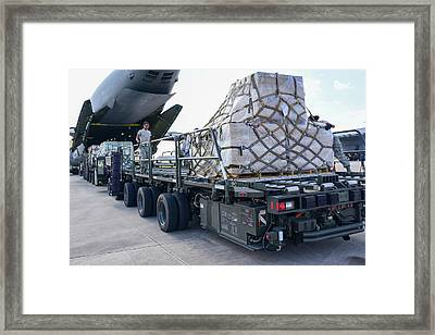 Pallets Of Supplies Ready Framed Print