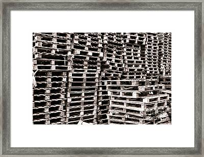 Pallets  Framed Print