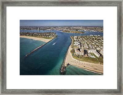 Palm Beach Inlet Framed Print