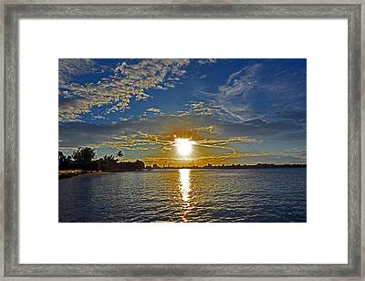 Palm Beach Sundown Framed Print