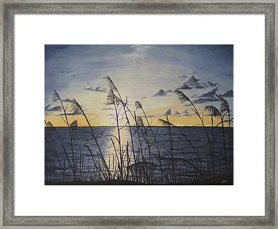 Framed Print featuring the painting Palm Beach Sunrise by Hilda and Jose Garrancho